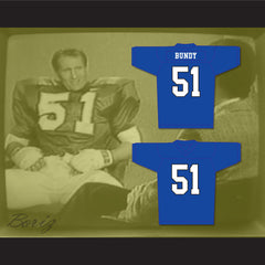 Al Bundy 51 Blue Football Jersey TV Interview Married With Children Ed O' Neill - borizcustom