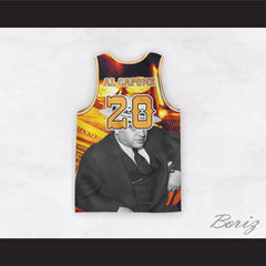 Al Capone 20 Gold Design Basketball Jersey
