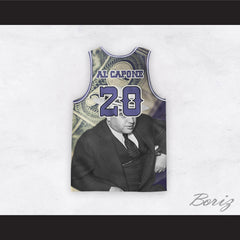 Al Capone 20 Money Design Basketball Jersey