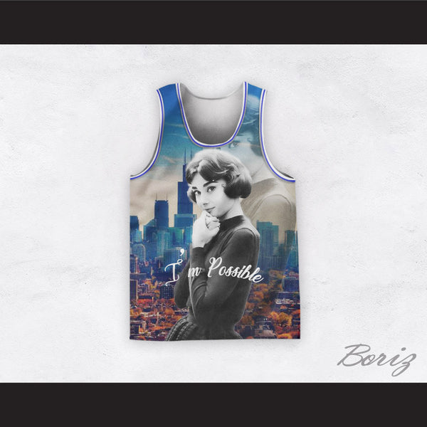 Audrey Hepburn 04 I'm Possible Cityscape Design Basketball Jersey