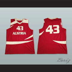 Austria 43 National Team Basketball Jersey - borizcustom