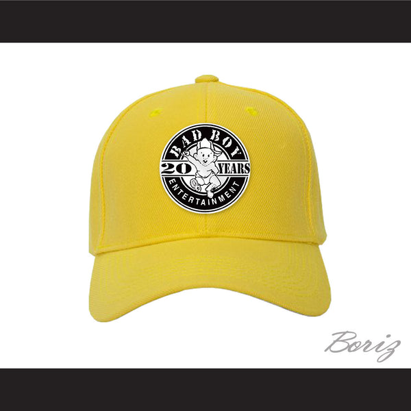 Bad Boy Entertainment 20 Years Yellow Baseball Hat - borizcustom