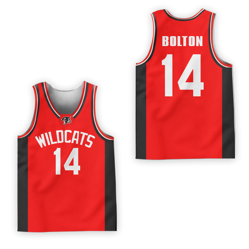 f1ced34c1 Zac Efron Troy Bolton 14 East High School Wildcats Basketball Jersey Colors