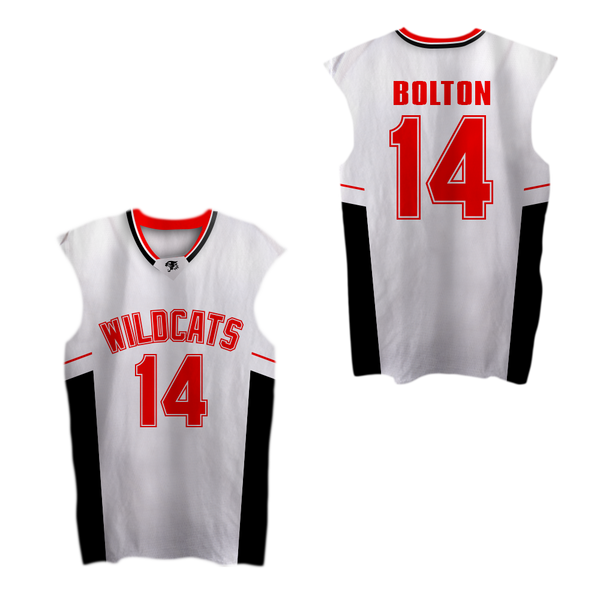 Zac Efron Troy Bolton 14 East High School Wildcats Home Basketball Jersey