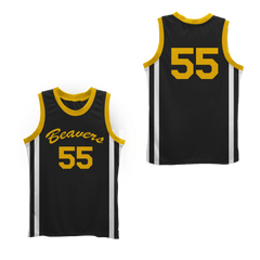 Mark Holton Chubby 55 Beacon Beavers Basketball Jersey Colors
