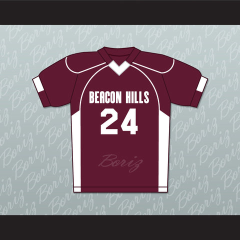 Stiles Stilinski 24 Beacon Hills Cyclones Lacrosse Jersey Teen Wolf TV Series New - borizcustom