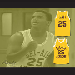 The Fresh Prince of Bel-Air Alfonso Ribeiro Carlton Banks Bel-Air Academy Basketball Jersey - borizcustom - 3