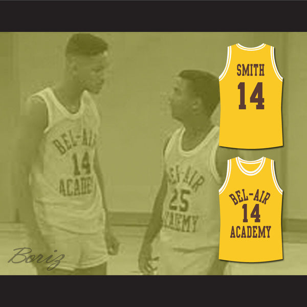 ... The Fresh Prince of Bel-Air Will Smith Bel-Air Academy Basketball  Jersey - 76fae78c81a7