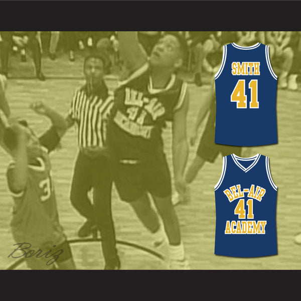 ... The Fresh Prince of Bel-Air Will Smith Bel-Air Academy Basketball Jersey  - 40e30ba54