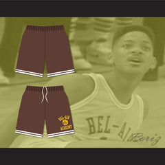Bel-Air Academy Brown Basketball Shorts - borizcustom