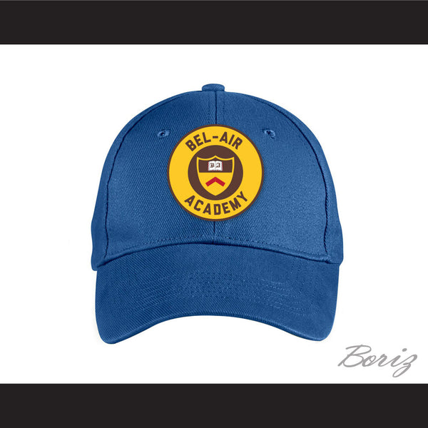 Bel-Air Academy Crest Blue Baseball Hat The Fresh Prince of Bel-Air - borizcustom