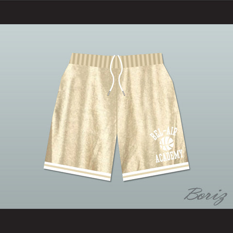 Bel-Air Academy Gold Basketball Shorts - borizcustom