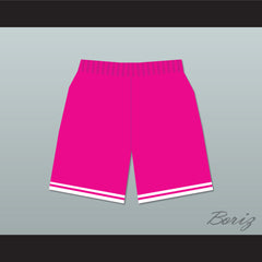 Bel-Air Academy Pink Basketball Shorts - borizcustom