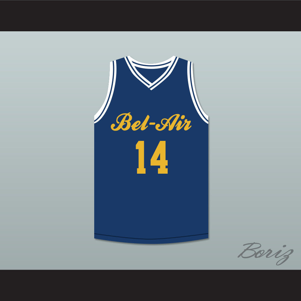 49a56a4576a1 ... 14 Bel-Air Academy Blue Basketball Jersey Deluxe. Product Image ...