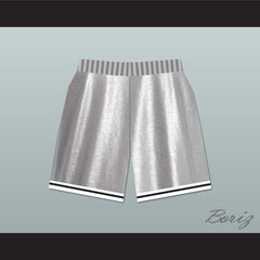 Bel-Air Academy Silver Basketball Shorts - borizcustom