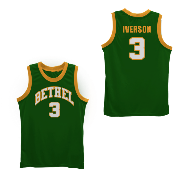online store 96b5e e77f8 Allen Iverson Bethel High School Basketball Jersey NEW Stitch Sewn Any Size  Colors