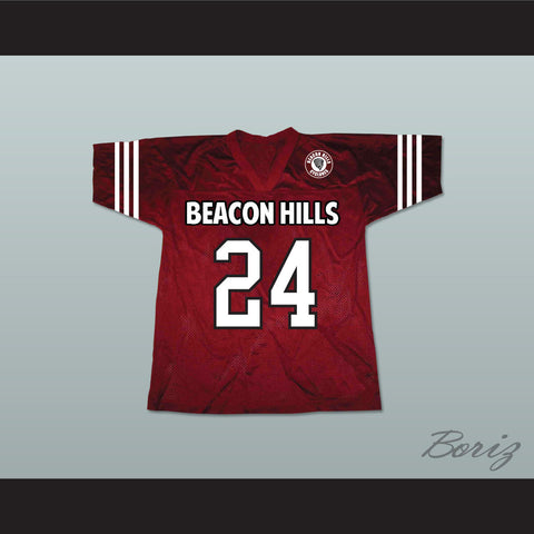 Stiles Stilinski 24 Beacon Hills Cyclones Lacrosse Jersey Teen Wolf Includes Patch - borizcustom