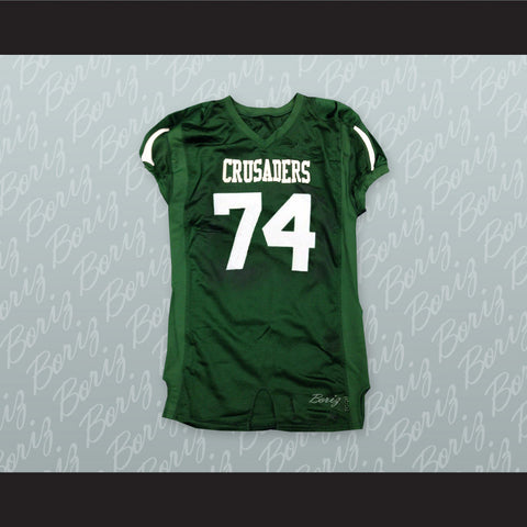 The Blind Side Michael Oher 74 Crusaders High School Football Jersey - borizcustom