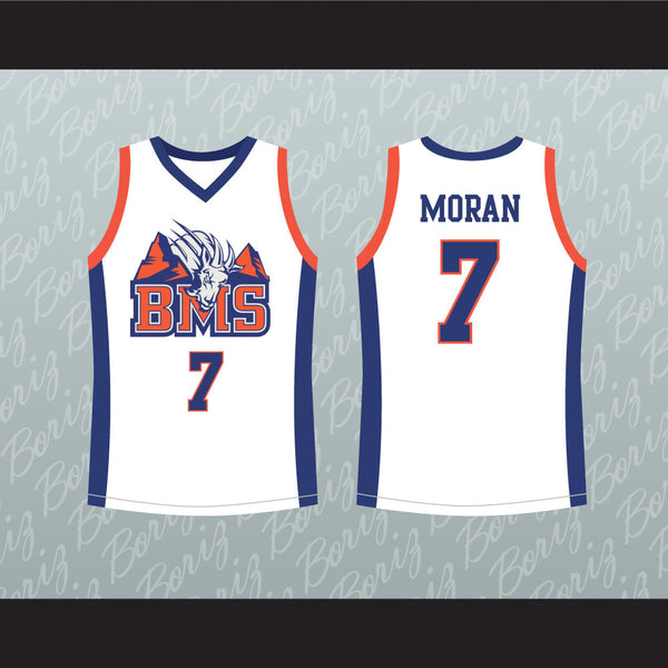 Alex Moran 7 Blue Mountain State Goats Basketball Jersey Stitch Sewn