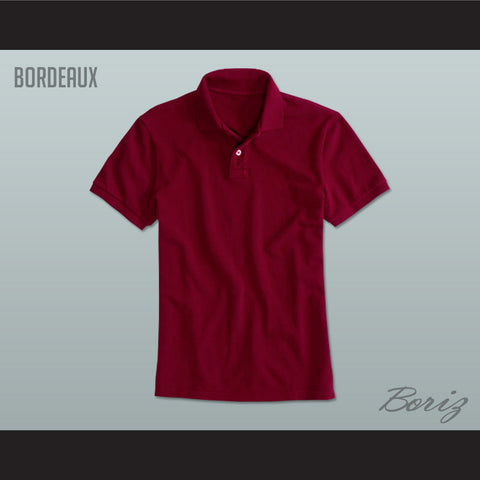 Men's Solid Color Bordeaux Polo Shirt - borizcustom
