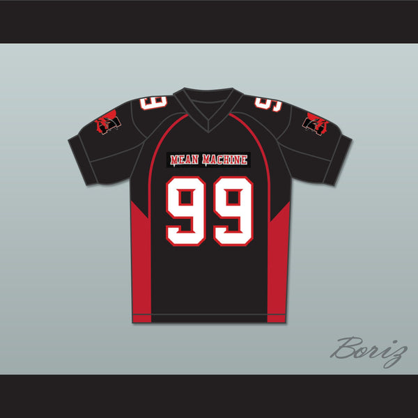 99 Bronson Mean Machine Convicts Football Jersey Includes Patches - borizcustom
