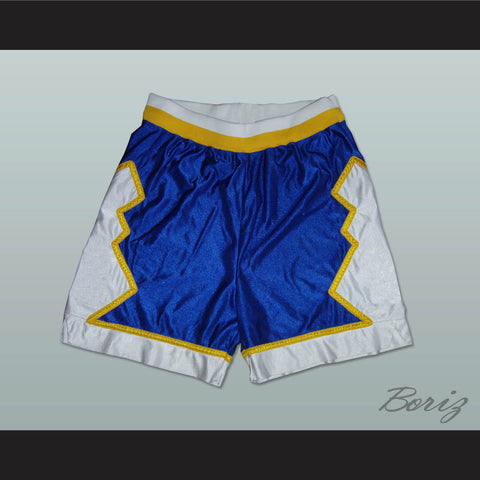 Blue White and Yellow Basketball Shorts All Sizes - borizcustom