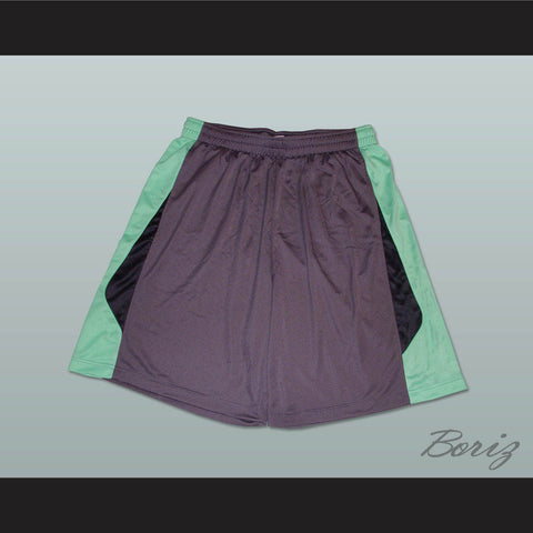 Grey Light Green and Black Basketball Shorts All Sizes - borizcustom