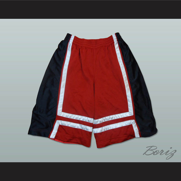 Red Black and White Basketball Shorts All Sizes - borizcustom - 1