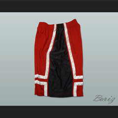 Red Black and White Basketball Shorts All Sizes - borizcustom - 3