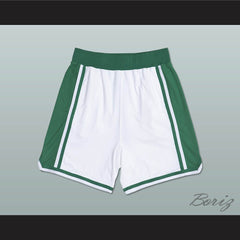 White and Green Basketball Shorts All Sizes - borizcustom - 2