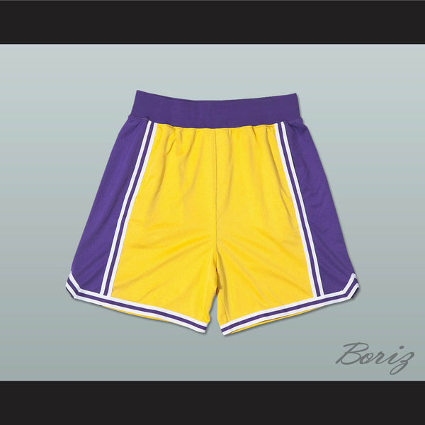 Yellow Purple and White Basketball Shorts All Sizes - borizcustom