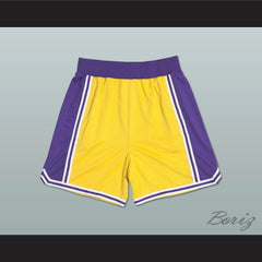 Yellow Purple and White Basketball Shorts All Sizes - borizcustom - 2