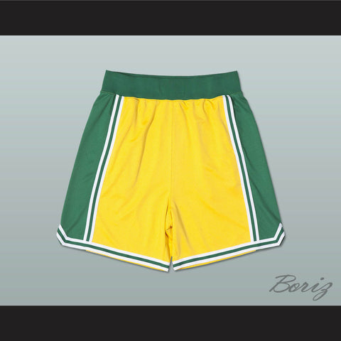 Yellow Green and White Basketball Shorts All Sizes - borizcustom