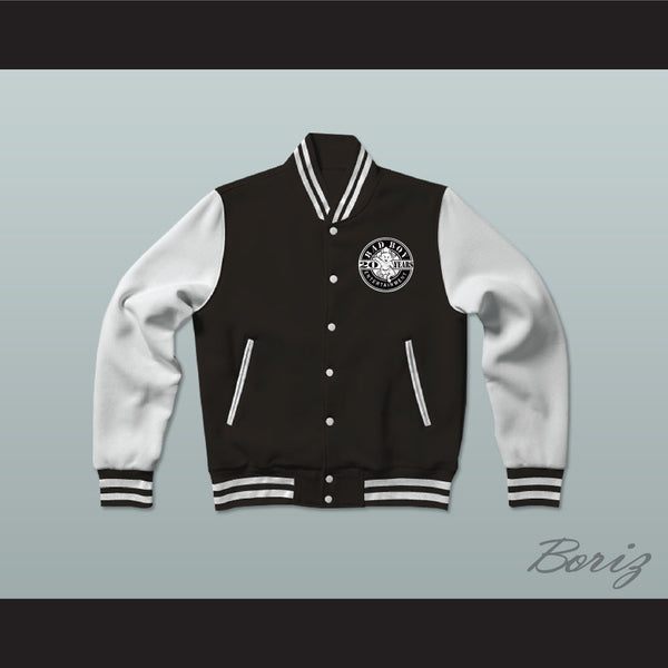 Bad Boy Entertainment Black Varsity Letterman Jacket-Style Sweatshirt - borizcustom - 1