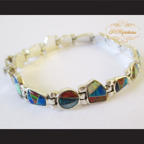 P Middleton Bohemian Style Bangle Sterling Silver 92.5% with Semi-Precious Stones 18 grams - borizcustom