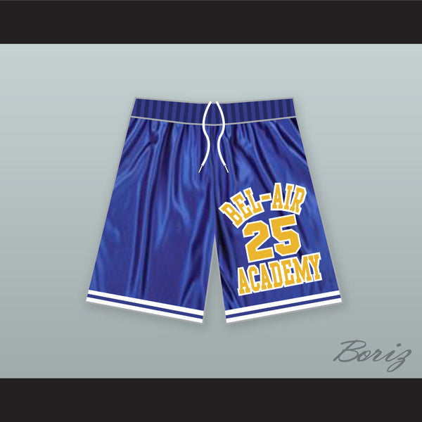Carlton Banks 25 Bel-Air Academy Blue Basketball Shorts