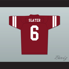 AC Slater 6 Bayside Tigers Football Jersey Maroon Saved By The Bell - borizcustom