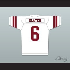 AC Slater 6 Bayside Tigers High School White Football Jersey Includes Tiger Patch - borizcustom