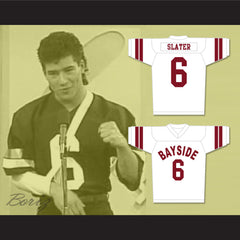 AC Slater 6 Bayside Tigers Football Jersey White Saved By The Bell - borizcustom