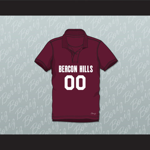 Derek Hale 00 Beacon Hills Cyclones Polo Shirt Teen Wolf - borizcustom