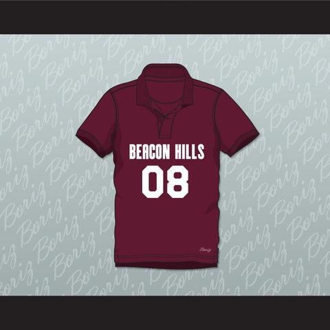 Matt Daehler 08 Beacon Hills Cyclones Polo Shirt Teen Wolf - borizcustom