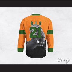 Big Poppa B.I.G. 21 Orange Hockey Jersey