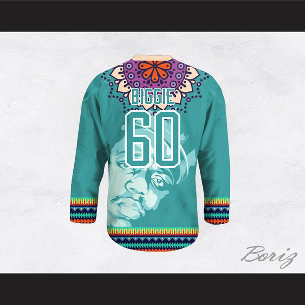 Biggie Smalls 60 Funky Style Teal Hockey Jersey 80c1cf29bc5