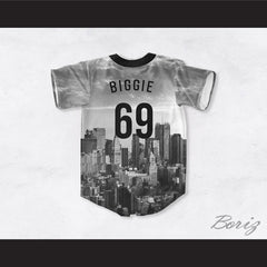 Biggie Smalls 69 Stack the Loot NYC Design Baseball Jersey