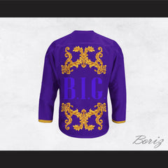 The Notorious B.I.G. Italian Style Purple Hockey Jersey