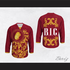 The Notorious B.I.G. Italian Style Red Hockey Jersey