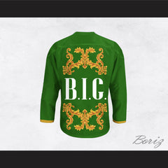The Notorious B.I.G. Italian Style Green Hockey Jersey
