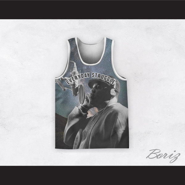 Biggie Smalls 21 Everyday Struggle Recording Night Time Stars Basketball Jersey
