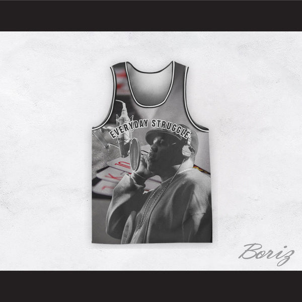 Biggie Smalls 21 Everyday Struggle Recording Poker Basketball Jersey