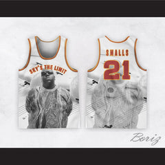 Biggie Smalls 21 Sky's The Limit White Basketball Jersey